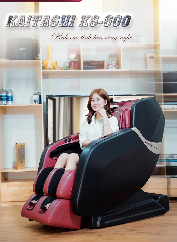 Kaitashi KS-600 mẫu ghế massage đang rất được ưa chuộng.