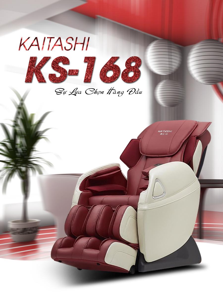 Ghế massage toàn thân Fujikashi KS-168 thiết kế lôi cuốn.