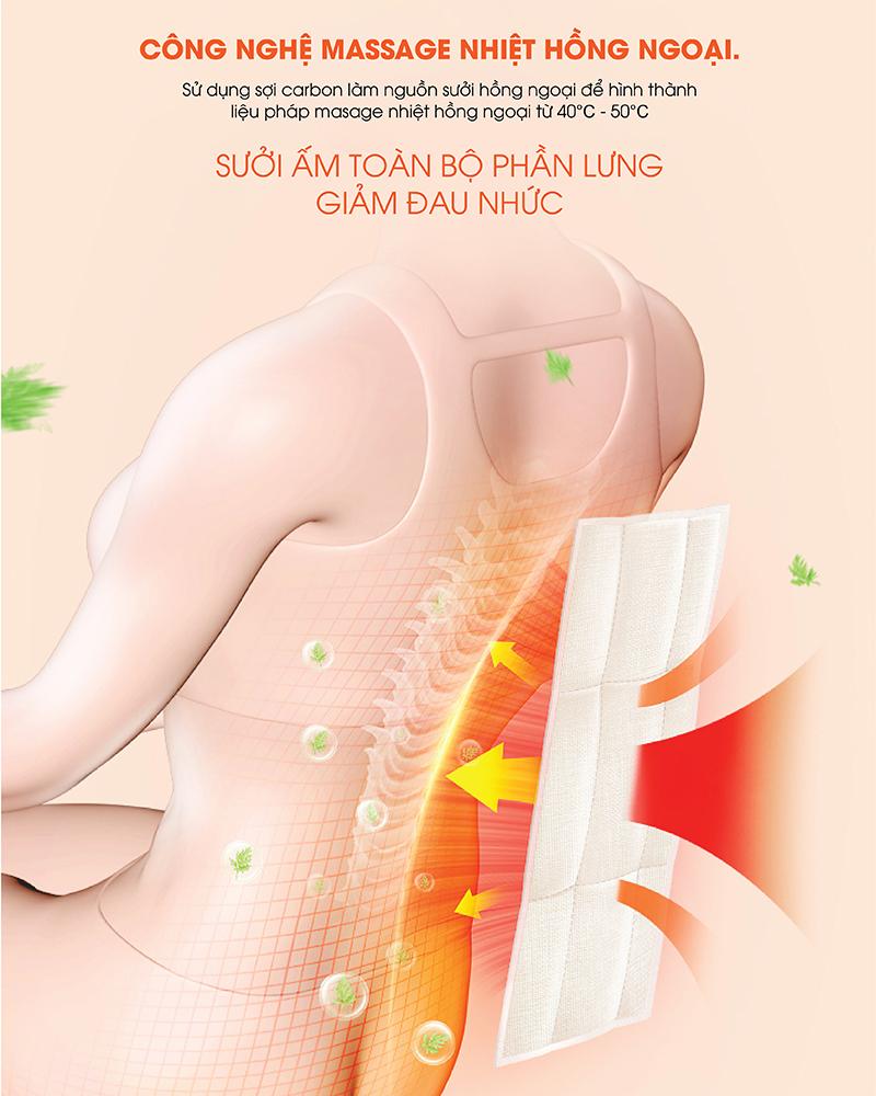 công nghệ massage nhiệt hồng ngoại