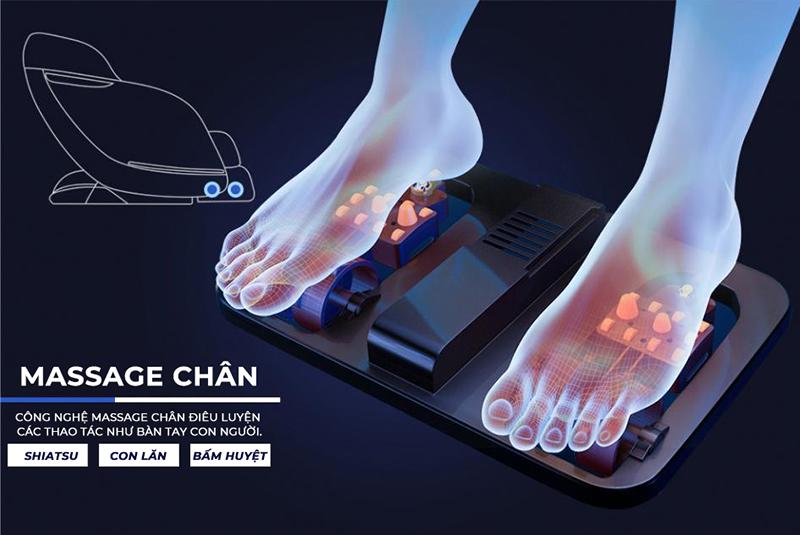 cơ chế massage rung lắc bàn chân
