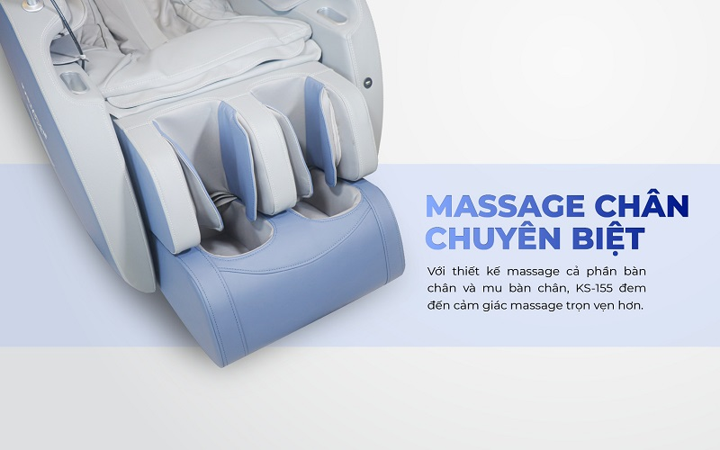 Thiết kế massage chân chuyên biệt - Massage trọn vẹn cả bàn chân
