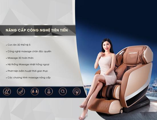 Giá ghế mát xa toàn thân Nhật Bản K - 500 là: 126 triệu đồng