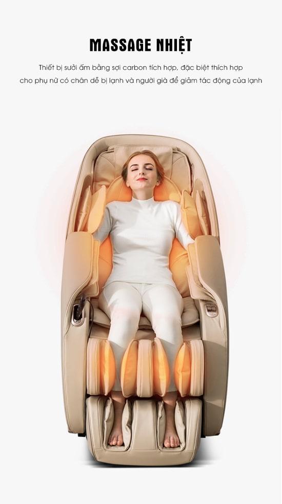 Làm ấm nóng cơ thể và tăng hiệu quả massage