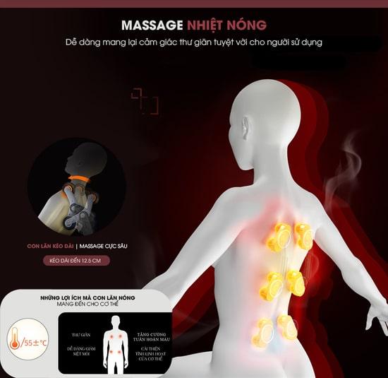 Tính năng nhiệt làm nóng cơ thể, tăng tuần hoàn máu