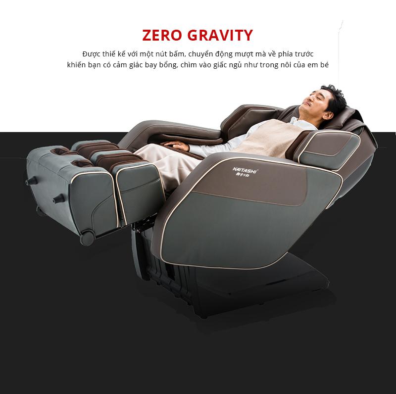 Trải nghiệm cảm giác tuyệt vời trên ghế massage Kaitashi KS-450 với Zero Gravity