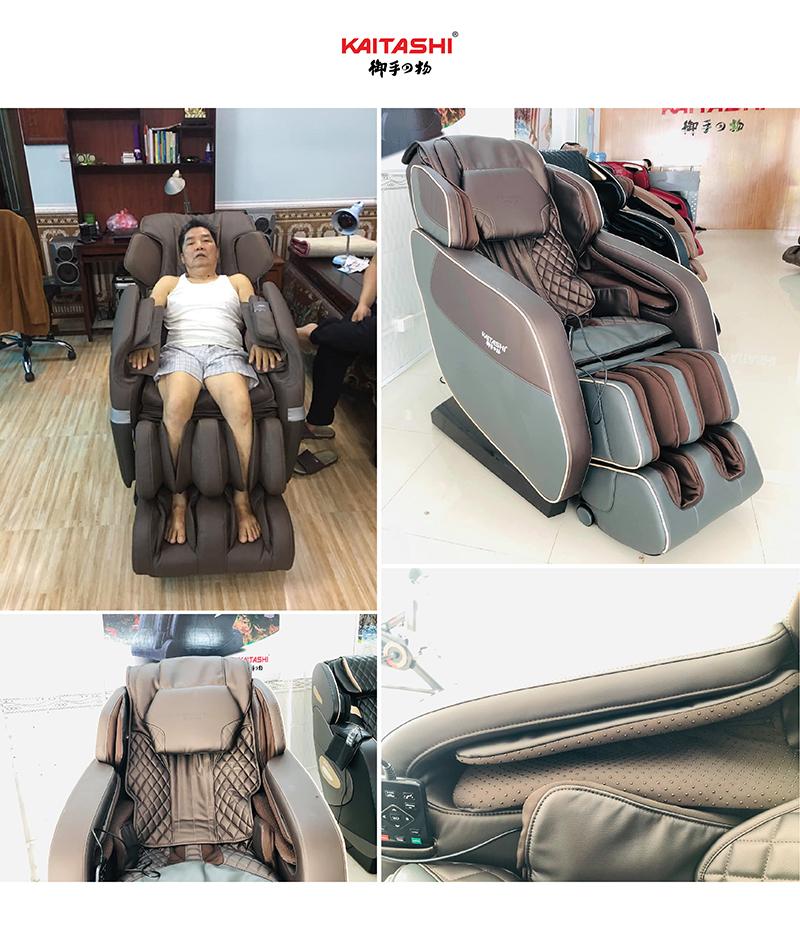 Các chi tiết trên ghế massage Kaitashi KS-450