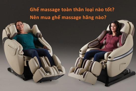 """""""Ghế massage toàn thân nào tốt?"""" là vấn đề nhận được đông đảo sự quan tâm"""