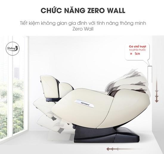 Tính năng Zero Wall được tích hợp trên ghế massage Kaitashi KS-400